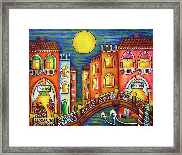 Venice Soiree Framed Print