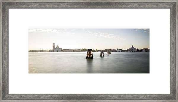 Venice Sunrise 00365 Framed Print