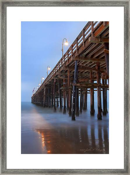Ventura Ca Pier At Dawn Framed Print