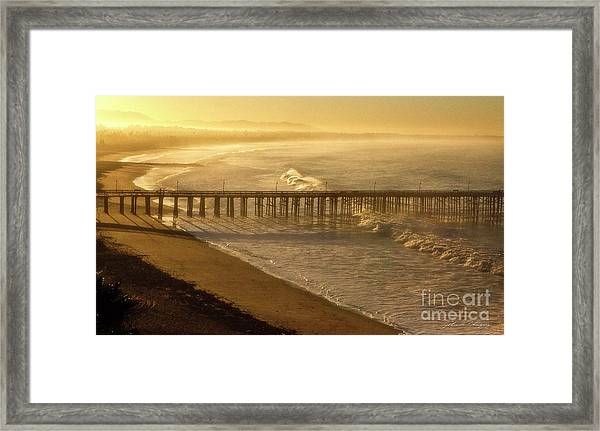 Ventura, Ca Pier At Sunrise Framed Print