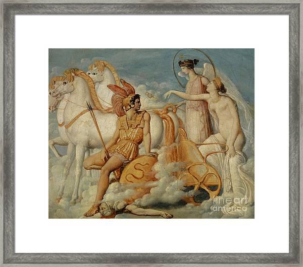 Venus, Injured By Diomedes, Returns To Olympus Framed Print