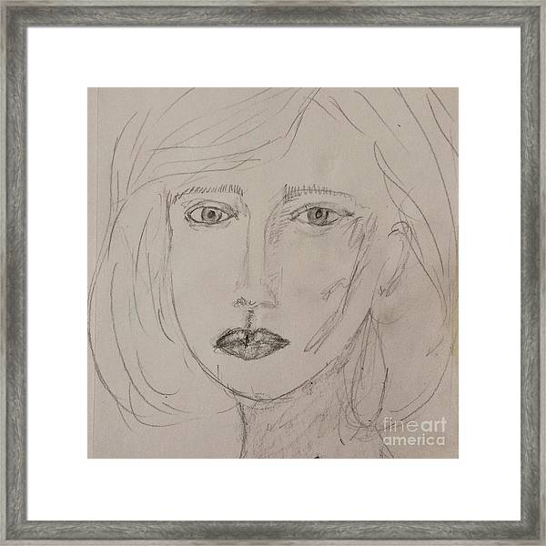 Vera In Pencil Framed Print