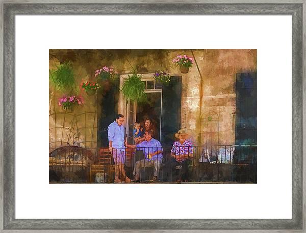 Veranda Bleue Framed Print
