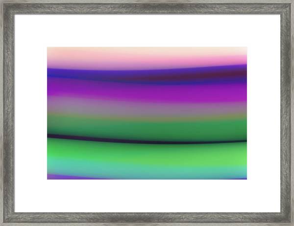Verbena Stripe Framed Print