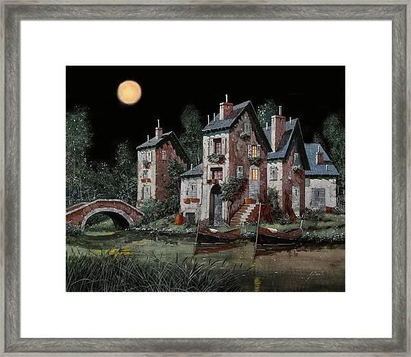 Verde Notturno Framed Print