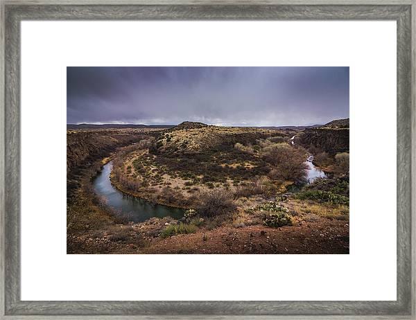 Verde River Horseshoe Framed Print