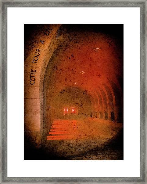 Framed Print featuring the photograph Verdun, France - Ossuary Hall by Mark Forte