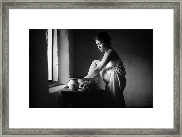 Vermeer Footwasher Framed Print
