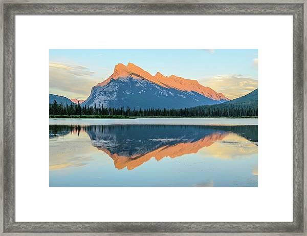 Vermillion Lakes Framed Print