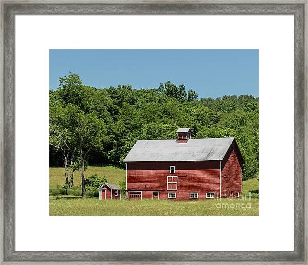 Vermont Barn Framed Print