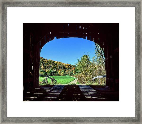 Vermont Covered Bridge Framed Print