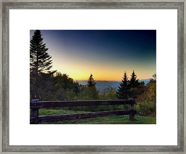 Vermont Evening Framed Print