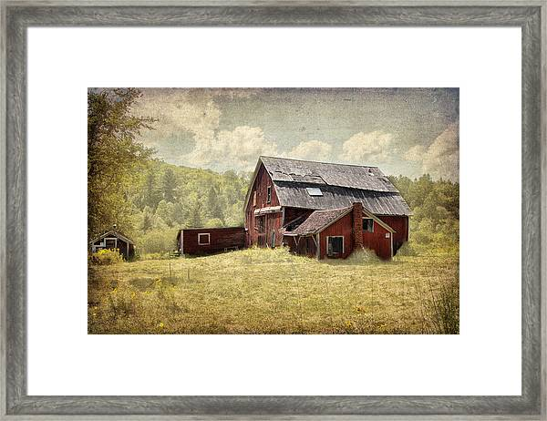 Vermont Red Barn  Framed Print