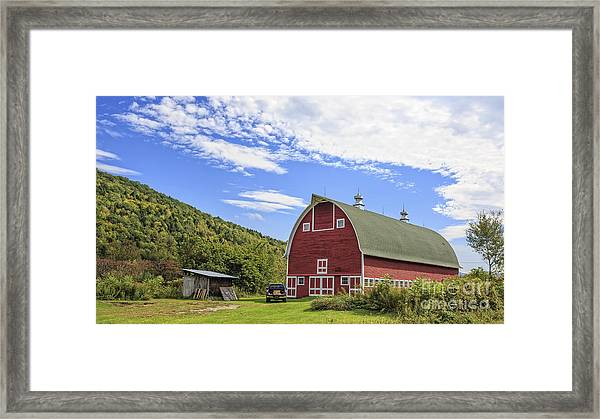 Vermont Red Barn Route 5 Framed Print