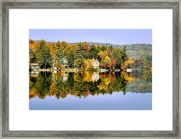 Vermont Reflections Framed Print