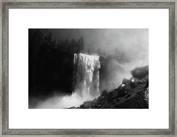Vernal Fall And Mist Trail Framed Print