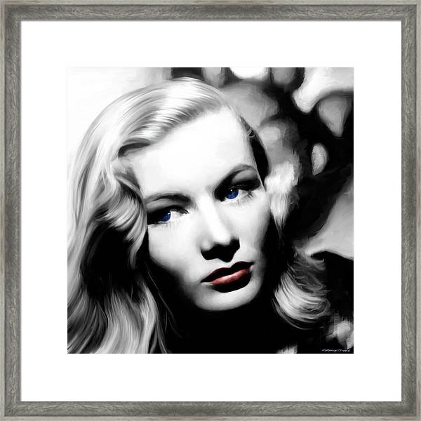 Veronica Lake Portrait #1 Framed Print