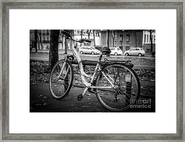 Versailles Bicycle Framed Print