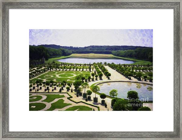 Versailles Digital Paint Framed Print