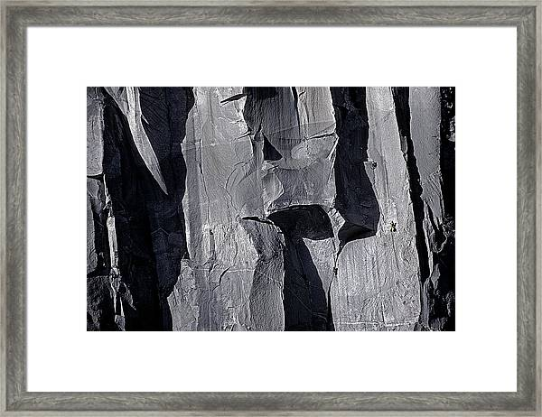 Vertical Trails Framed Print