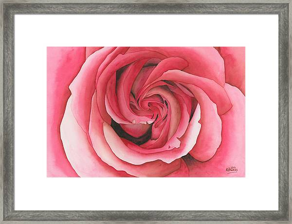 Vertigo Rose Framed Print