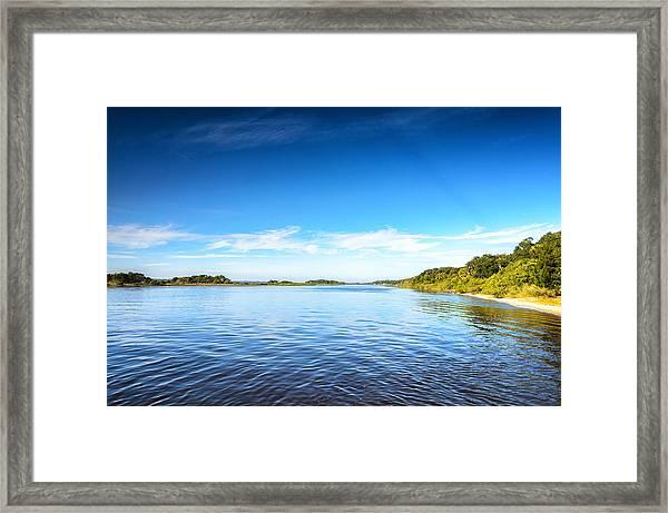 River Blue Framed Print