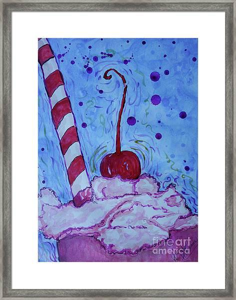 Very Cherry Soda Framed Print