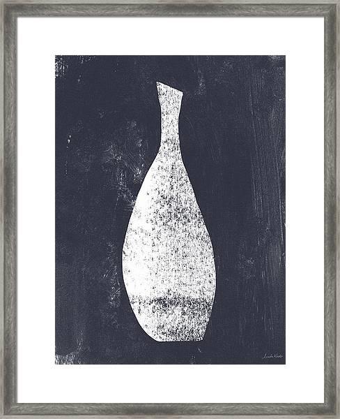 Vessel 3- Art By Linda Woods Framed Print