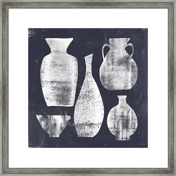 Vessel Sampler- Art By Linda Woods Framed Print