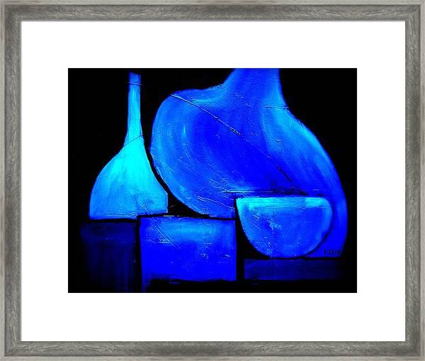 Vessels Blue Framed Print