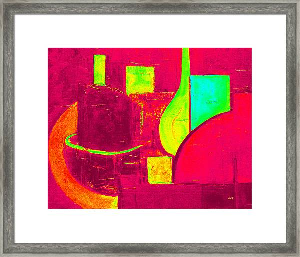 Vessels Very Colorful Framed Print