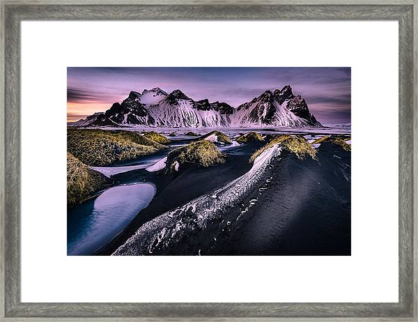 Vestrahorn, South Iceland Framed Print