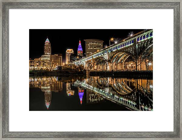 Veterans Memorial Bridge Framed Print