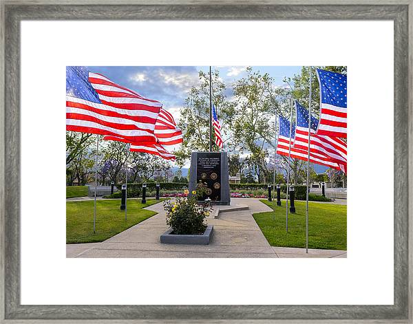 Veterans Monument Camarillo California Usa Framed Print