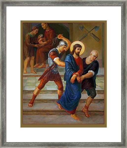 Via Dolorosa - Stations Of The Cross - 1 Framed Print by Svitozar Nenyuk