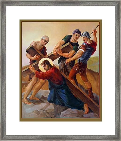 Via Dolorosa - Stations Of The Cross - 3 Framed Print