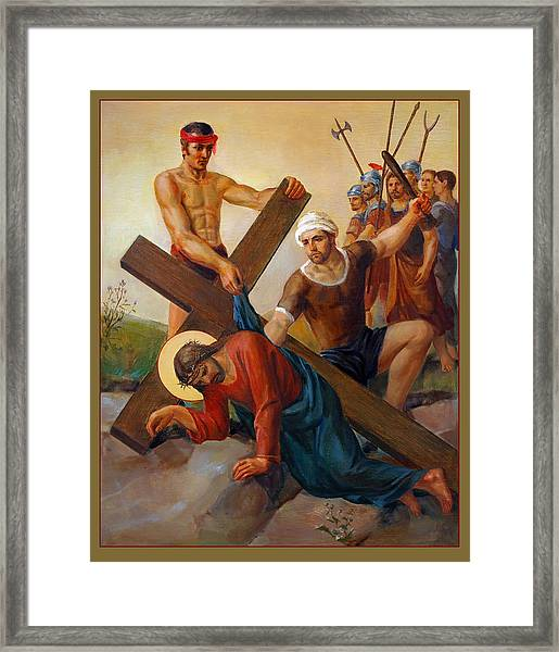 Via Dolorosa - The Second Fall Of Jesus - 7 Framed Print