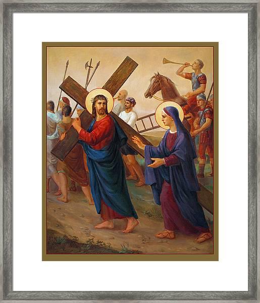 Via Dolorosa - The Way Of The Cross - 4 Framed Print by Svitozar Nenyuk