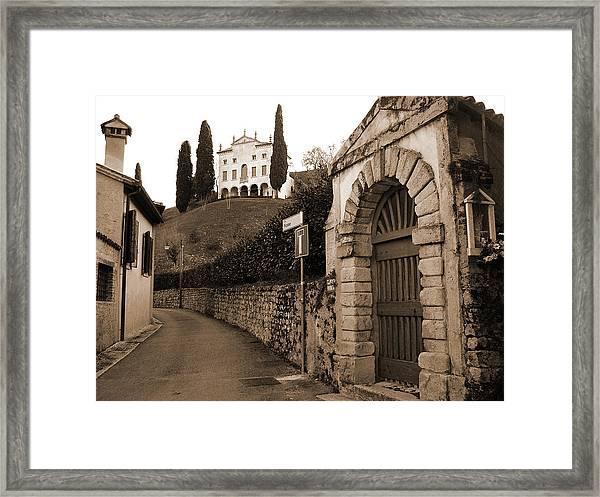 Via Fosse Framed Print