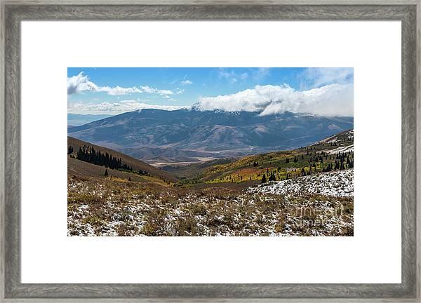 Vibrance Of The Storm Idaho Landscape Art By Kaylyn Franks Framed Print