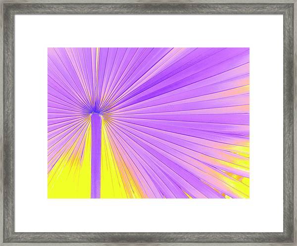 Vibrant Palm Frond Framed Print