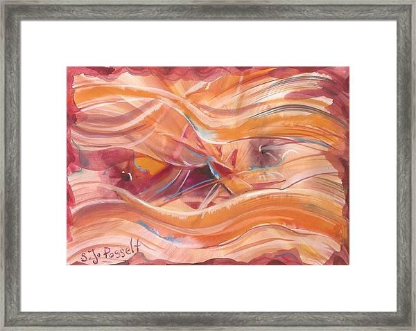Vibrant Silk Framed Print