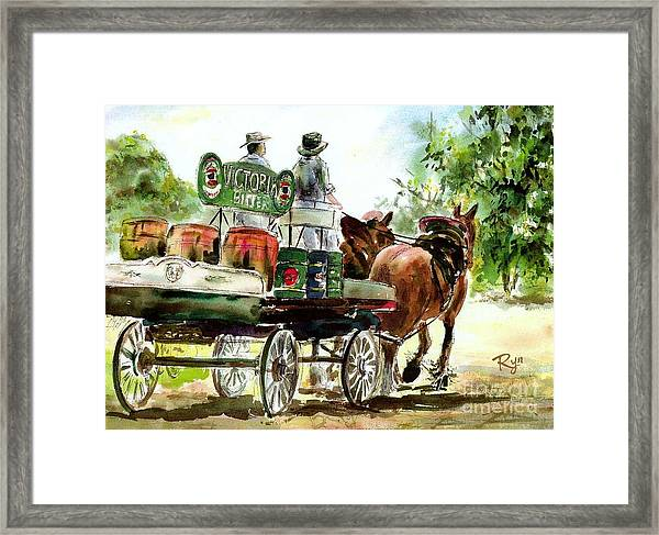 Victoria Bitter, Working Clydesdales. Framed Print