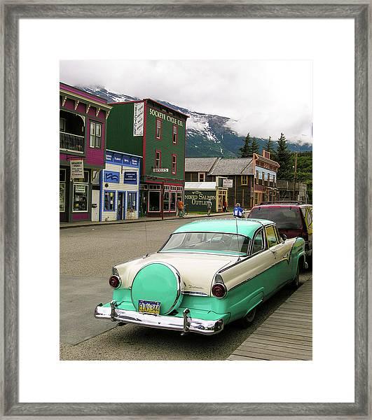 Vicky In Skagway Framed Print