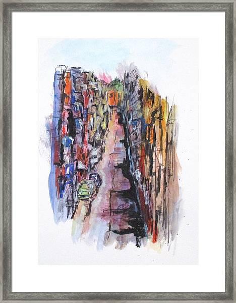 Vicolo De Napoli Framed Print