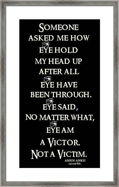 Victor Framed Print