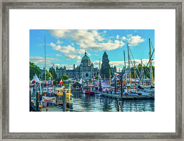 Victoria Harbor Boat Festival Framed Print