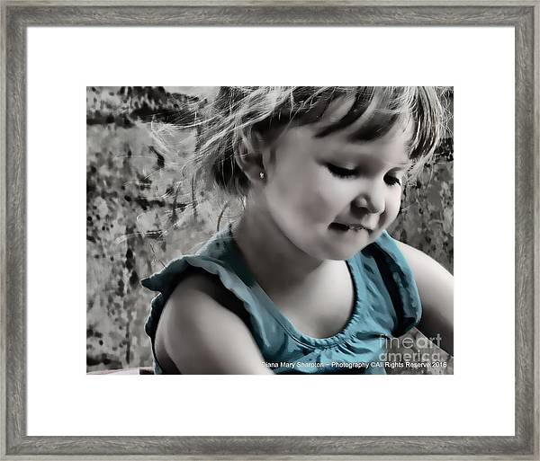 Victoria In Blue Framed Print