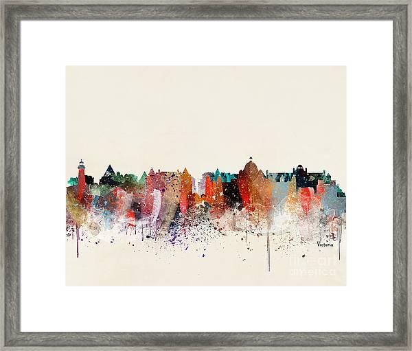 Victoria Skyline  Framed Print