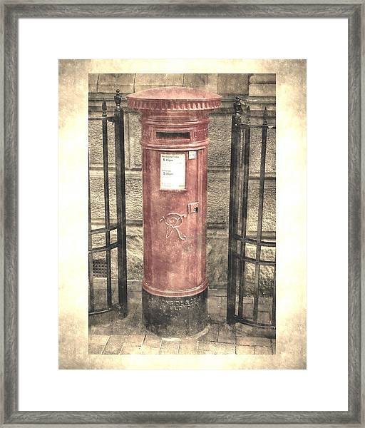 Victorian Red Post Box Framed Print